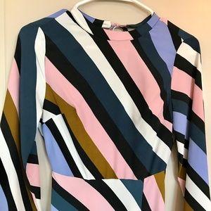 Topshop Multi Color Maxi Dress